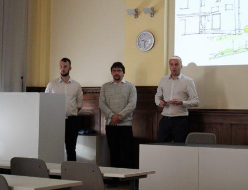 Gothaer Fachschüler planen die Umgestaltung der Außenanlagen des VG Gebäudes in Straußfurt